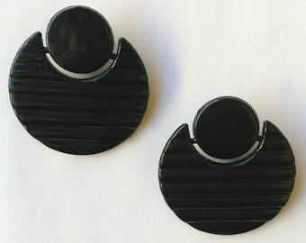 Blue night earrings vintage 80 s