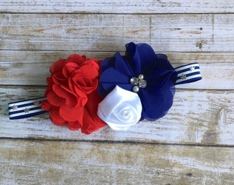 4th of July Headband, Baby Headband, Newborn Headband, Infant Headband, Baby Girl Headband, July 4th Headband, Fourth of July, Baby Girl