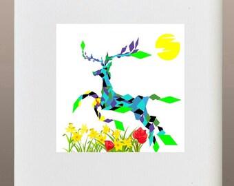 Art Print - Blissed Deer