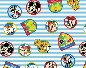 Disney Mickey Mouse and Friends - Fun with Friends Cotton Fabric from Springs Creative
