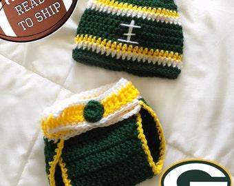 Green Bay Packers inspired Football Newborn Photo Prop Set