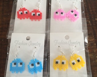Pacman Ghost mini Peler Dangle Earrings
