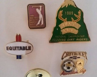 Vintage Enameled PIN Lot Sports Diners Club 1980s