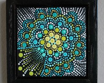 Dot Painting Acrylic Miniature Original Art