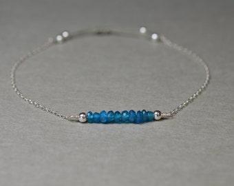 Bracelet Apatite * fine adjustable chain