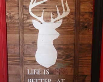 Life is Better at the Cabin Pallet Sign