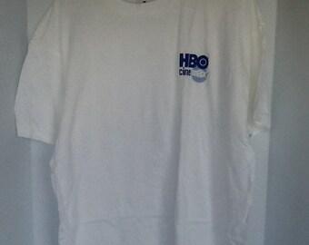 Vintage New Old Stock '90s Promo T-Shirt HBO CINEMAX Logo Advertising shirt
