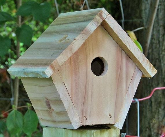 cedar birdhouse handcrafted decorative by birdhousesbybarman. Black Bedroom Furniture Sets. Home Design Ideas