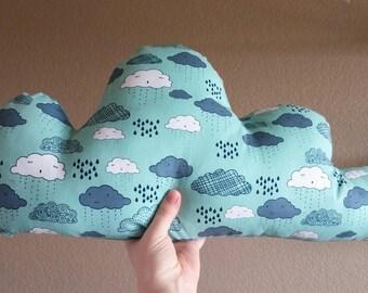Large Rainy Cloud Arrow Pillow