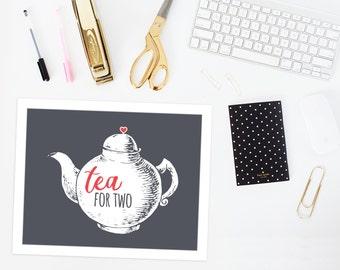 Tea party printable | Teapot printable | Tea party decorations | tea decor | teapot decor |instant download art print | tea art print