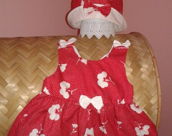 Flower Girl Dress With Matching Hat