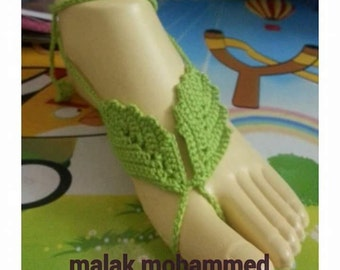 crochet leaf foot bare