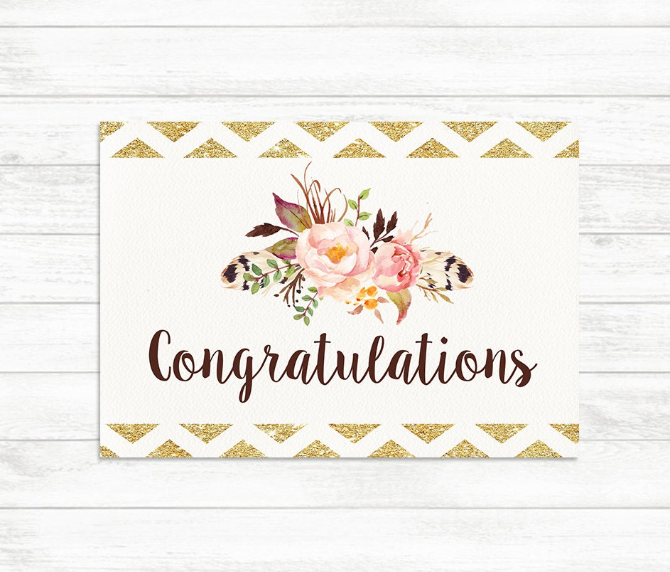 This is an image of Impertinent Congratulations Card Printable