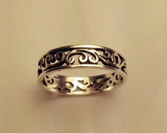Celtic Beach Silver Toe Ring