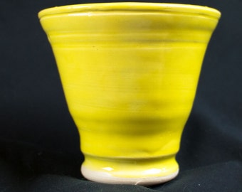 Small Yellow Vase - 4 inch - Wheel thrown stoneware pottery - Free Shipping