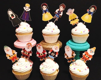 Snow White Inspired Cupcake Toppers