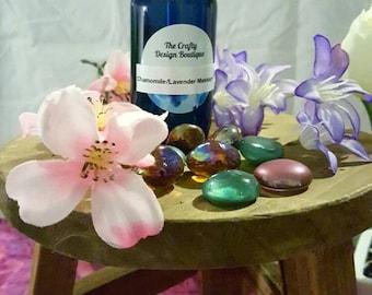 Massage oil. Lavender and chamomile. Massage oil.