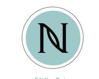 1 SHEET of  24 Nerium Logo stickers