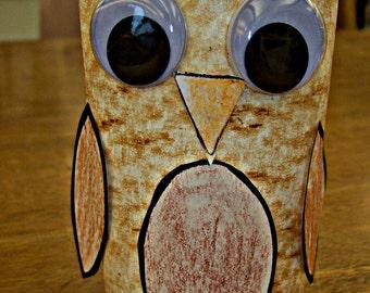 Paper Tube Owl Craft Pattern Download