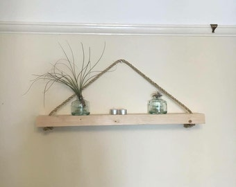 Simple yet stylish rustic shelves