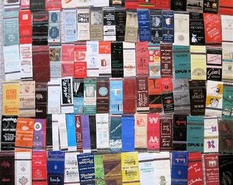 New York city 110 Vintage Matchcovers - Hotels & Restaurants:Edison-Martinique-Commodore-Dixie-Times Square Motor-21 Club-Cite-Park Lane-JPP