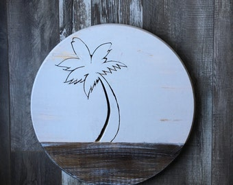 """17 1/2"""" wood round wall hanging"""