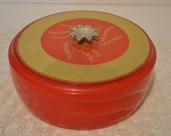 Avon Red Persian Wood Beauty Dust Container