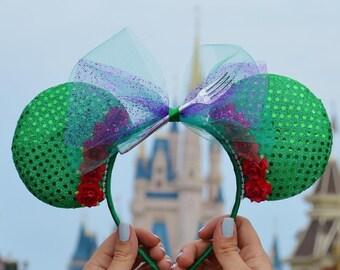 "Little Mermaid ""Ariel"" Disney Inspired Ears"