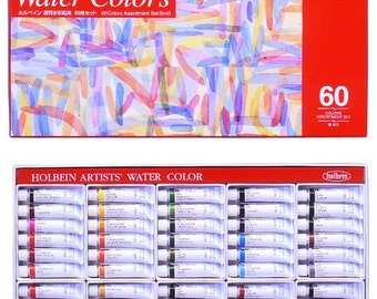 Holbein Artists' Watercolors  5ml Tube 60 Color Set