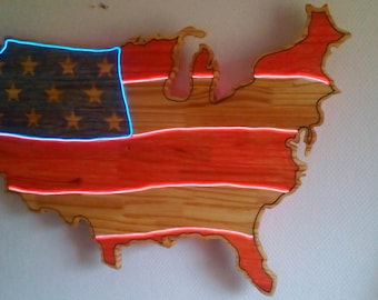 mural map of usa light