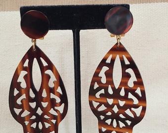 Vintage Tortoise Moroccan Inspired Earrings
