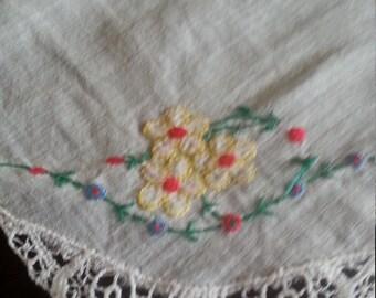 embroidered vintage handkercheif