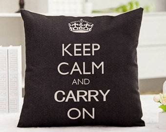 Keep Calm and Carry On Decorative Pillow