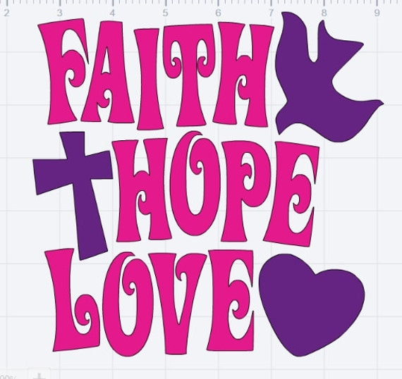 Download Items similar to Faith Hope Love Design SVG EPS DXF Studio ...