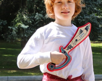 Personalized Pirate Sword - Made with Real Wood - Add a Name to Create a Custom Kids Gift