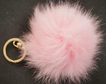 POMPON IN FUR pink  6m