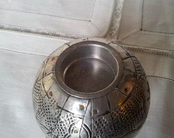 Vintage Ball Candle Holder,engraved ,Handmade.Swedish design.