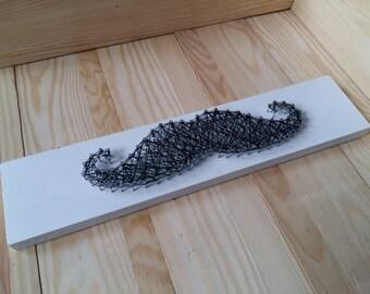 String art moustache. Handmade.