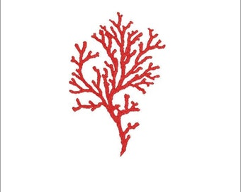 Machine embroidery design coral, corals, sea, summer, marine