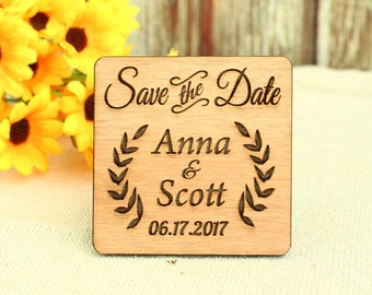 Wood Save the Date magnet wedding save the date wood wedding save the date rustic save the date magnet rustic wedding save the date unique