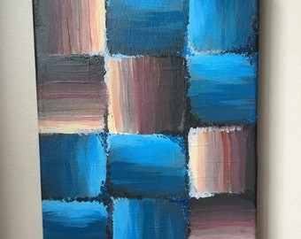 Small abstract acrylic painting