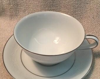 Noritake tea cup and saucer. Pattern 6115