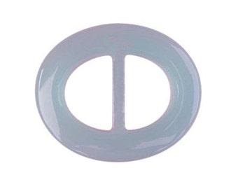 Smoke Gray Oval Lucite Belt Buckle     (BB-OV-003)
