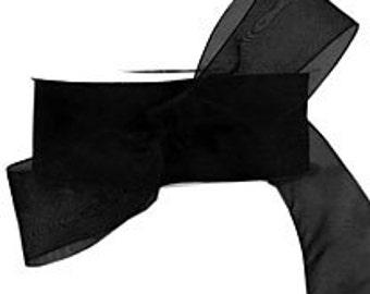 Black Sheer Ribbon   (10-##-S-123)