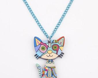 Cat Acrylic Pendant
