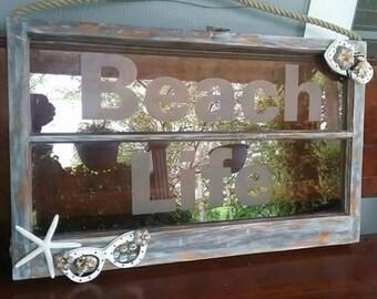 Repurposed antique window