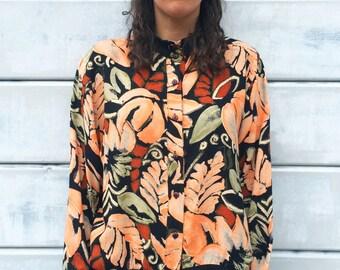 Vintage floral patterned shirt