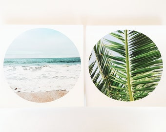 Beach Photography, Palm Tree Photography, Palm Tree Photo Set, Beach Photo Set, Tropical Photo Set