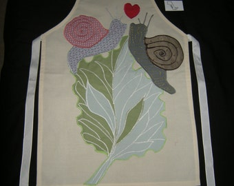 Appliqued Calico Adult Apron