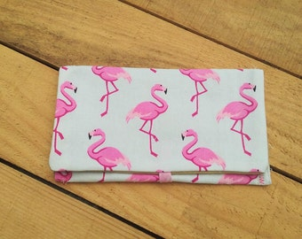 Tobacco pouch fabric pink flamingos